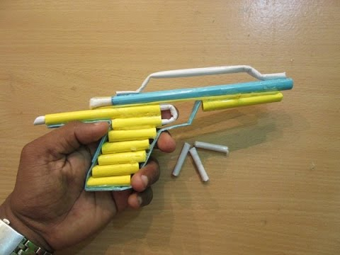 How to Make a Paper Gun that shoots Paper bullets - Easy Paper Pistol  Tutorials