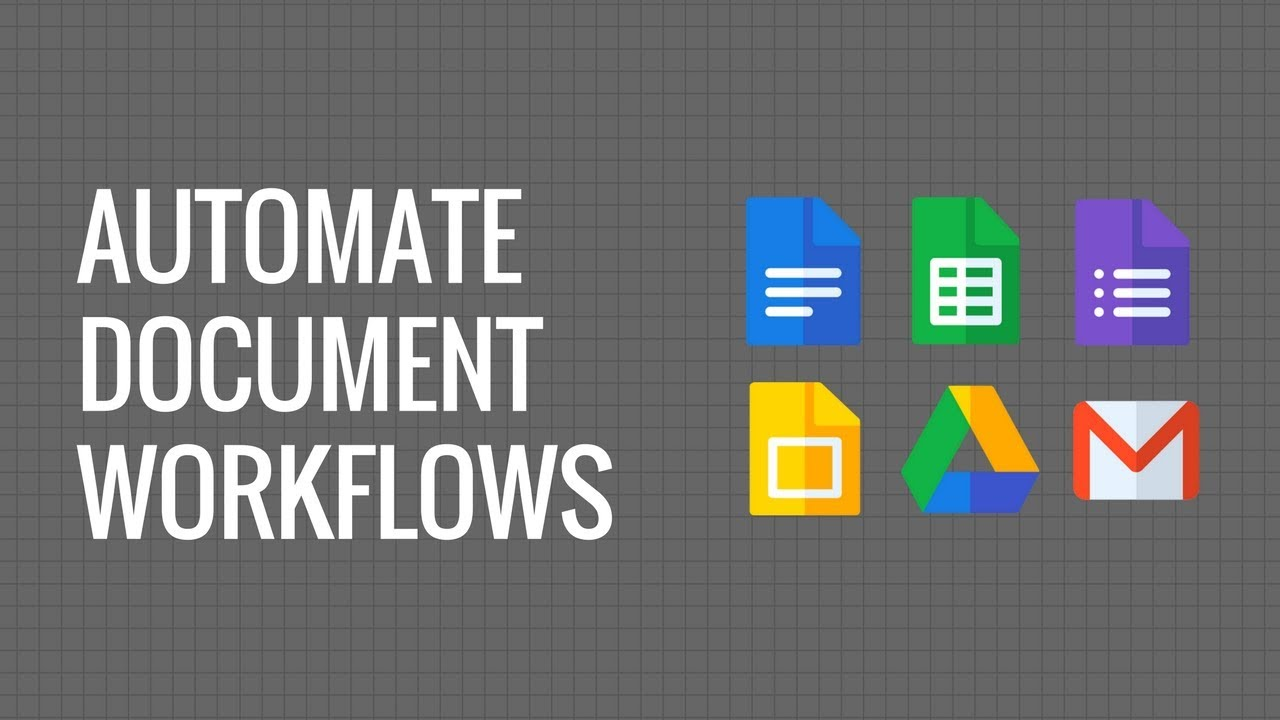 Automate Document Workflow With Google Docs Gmail Google Forms And Sheets