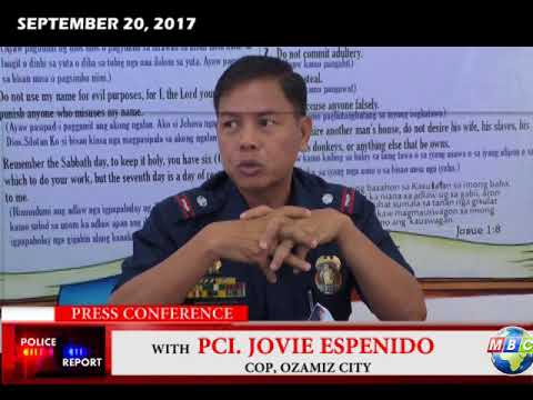 MBC OZAMIZ  Press Conference with PCI Jovie  Espenido  September 20 2017