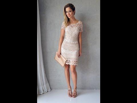 Платье крючком схемы и описания Более 225 платьев на