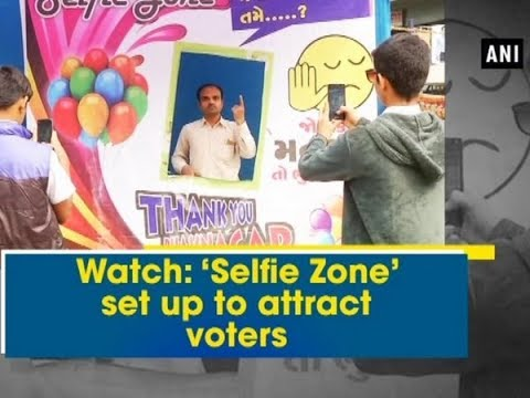 Watch: 'Selfie Zone' set up to attract voters - Gujarat News
