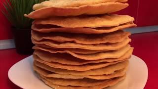 Очень простой рецепт слоеных коржей для наполеона| торт наполеон| коржи для торта