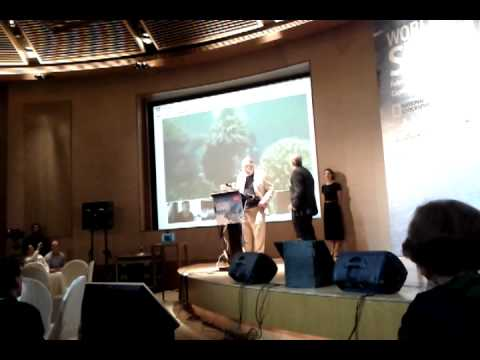 Catlin Seaview Survey Underwater Google Plus Hangout with Economist Ocean Summit Singapore