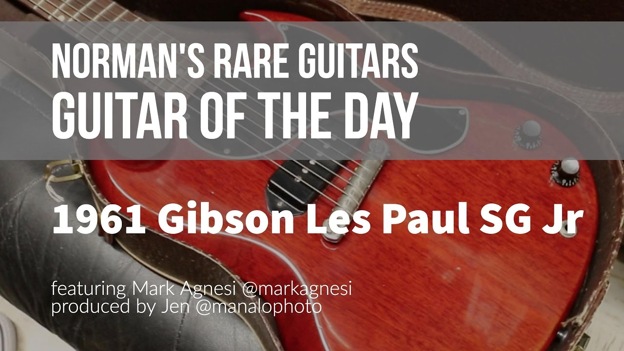 Norman's Rare Guitars - Guitar of the Day: 1961 Gibson Les Paul SG Jr