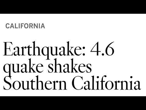#Earthquake #Breaking News Los Angeles Gets Rocked By 4.9 Earthquake. By Joseph Armendariz