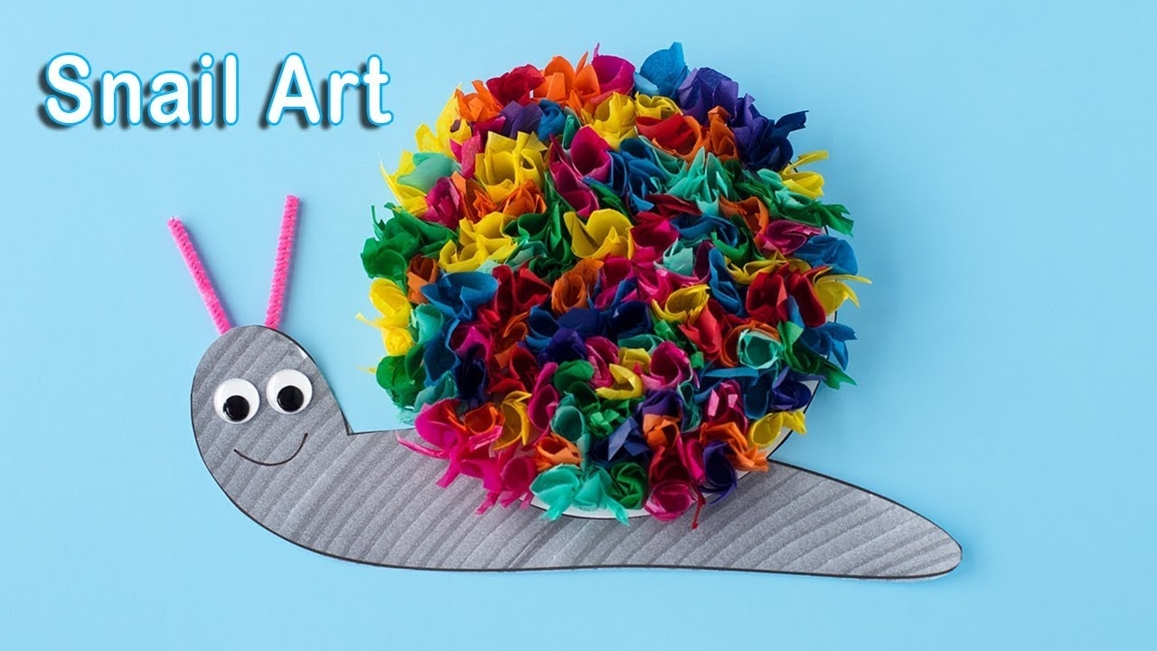 snail craft for kids ,Simple Art and Craft - YouTube