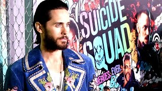 Jared Leto's Joker Laugh in Suicide Squade 'Is Very Strange' - World Premiere