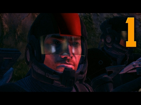 "Mass Effect 1 Gameplay Walkthrough - Part 1 ""HOSTILES EVERYWHERE"" (Let's Play/Playthrough)"
