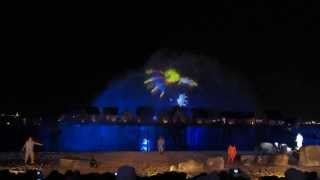 Fountain Laser Show, Sentosa Island Singapore (Song of the Sea) Part 1 (HD Video)