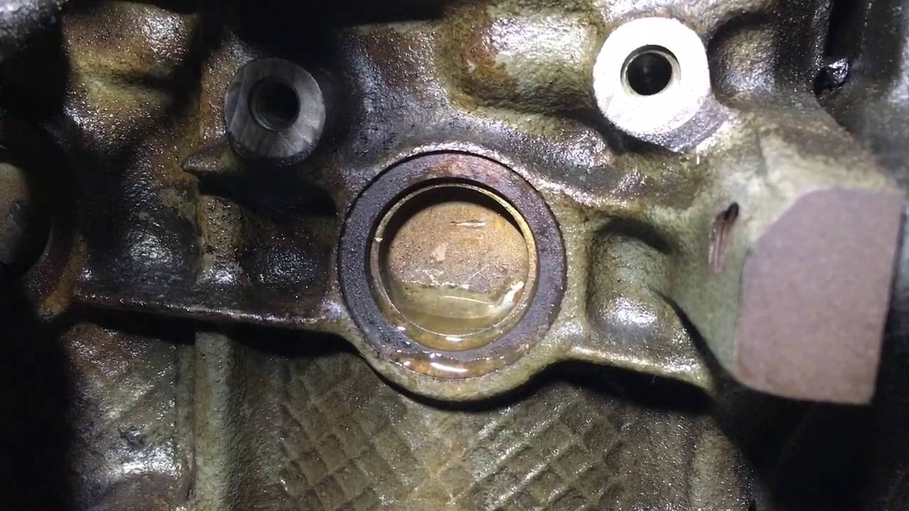 Vectra Coolant Leak From Cylinder Block Plug Youtube