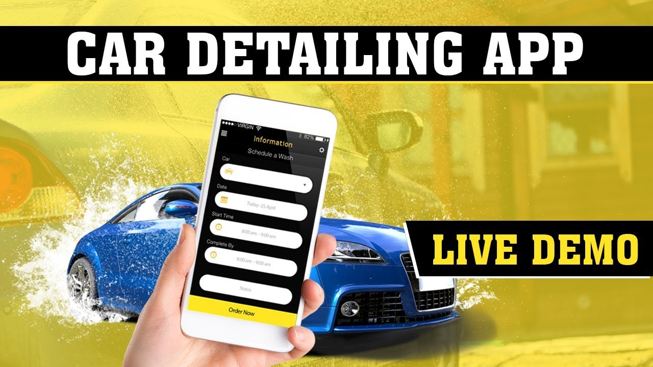 On Demand Car Wash App Clone Script | Car Detailing App | Car Washer Man and User Live Demo