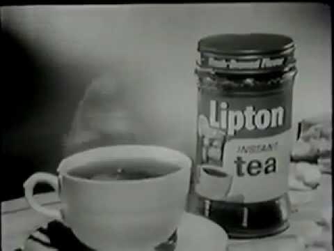VINTAGE 1950's LIPTON INSTANT TEA COMMERCIAL - CHARACTER ACTOR EDDIE BRACKEN