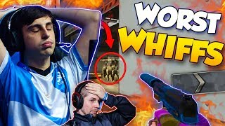 CS:GO - BIGGEST PRO WHIFFS OF ALL TIME! *PAINFUL TO WATCH* ft. shroud, coldzera, ScreaM & More!