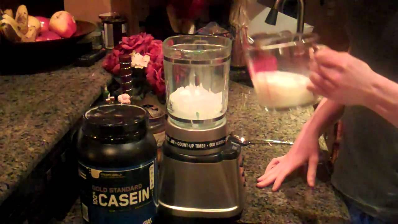 Whey protein before bed