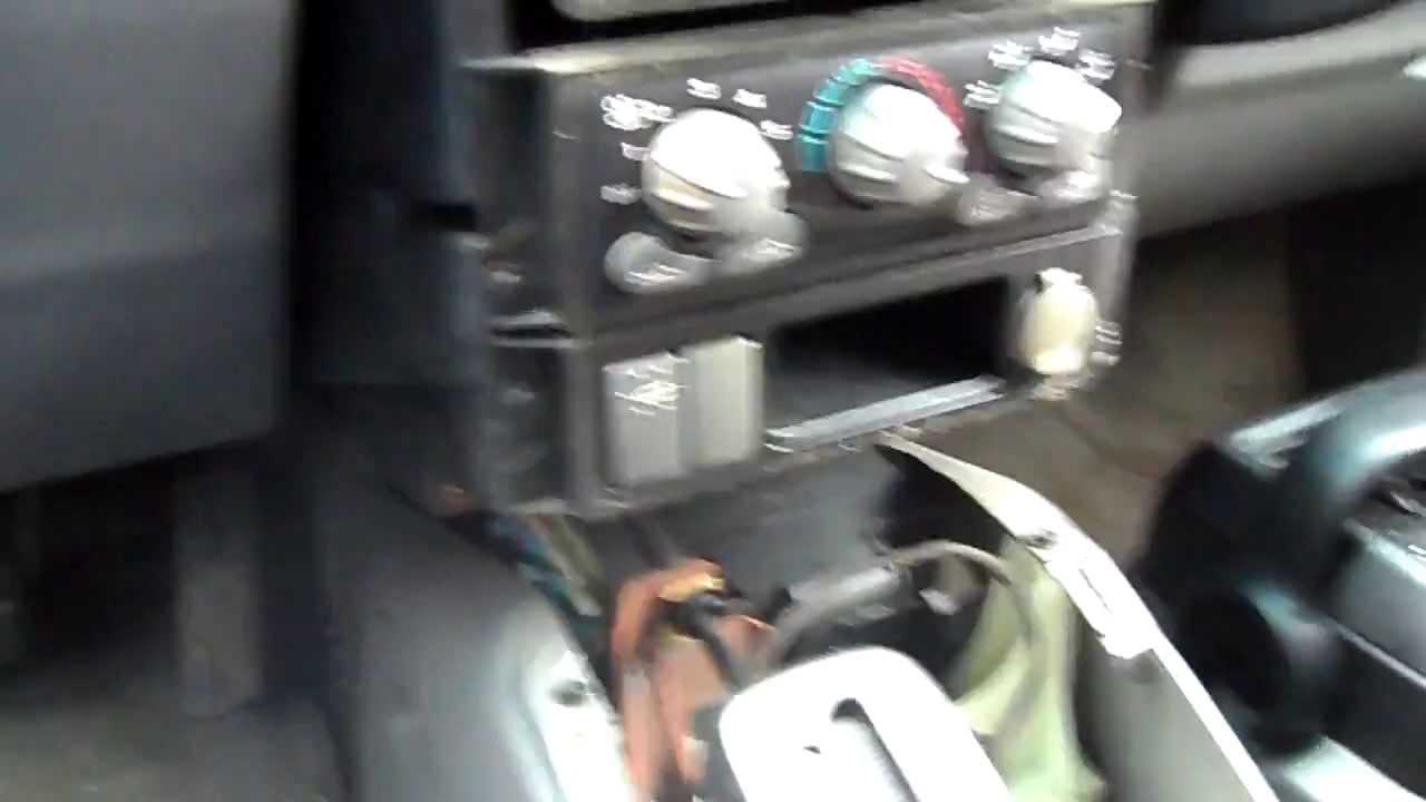 Pontiac Aztek Stereo Wiring Diagram 1999 Jeep Cherokee Xj Removal - Youtube