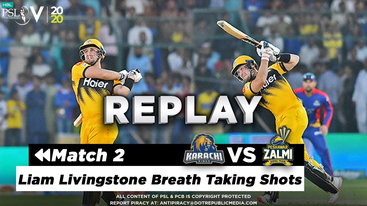 Liam Livingstone Breath Taking Shots | Karachi Kings vs Peshawar Zalmi | Match 2 | HBL PSL 5 | 2020