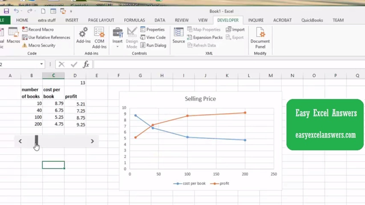 Add a slider to your chart in excel youtube add a slider to your chart in excel ccuart Choice Image