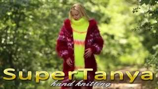 12.06.2014 Hand knitted Mohair Icelandic Cardigan and Neon Yellow Turtle Neck Sweater by SuperTanya
