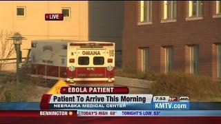 Ambulance carrying Ebola patient arrives at Nebraska Medical Center