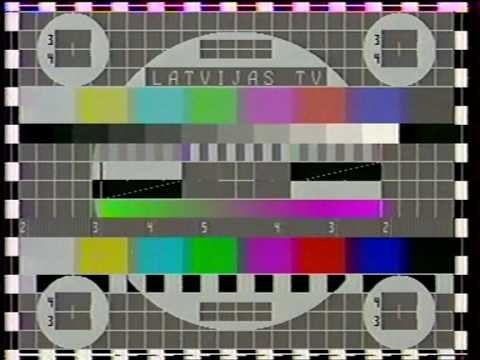 Latvia TV test card 1991 УИЭТ SECAM