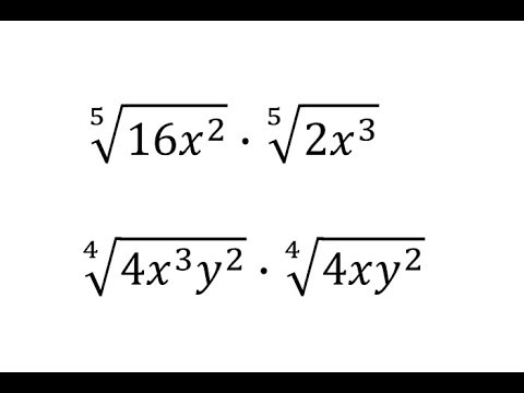 Multiply Two Radicals with Variables (Index 4 and 5) Perfect Roots