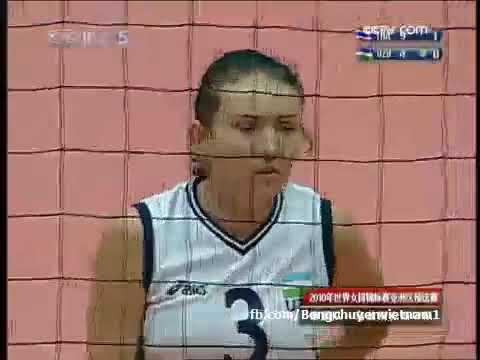 Thailand Vs Uzbekistan l 2010 FIVB Volleyball Women's World Championship qualification (AVC)