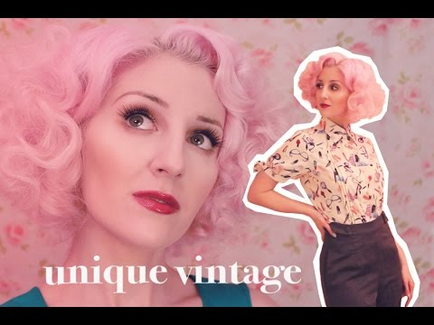 Unique Vintage Spring Haul Try On (ASMR soft spoken + fabric sounds)