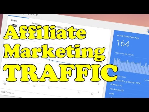 How to get AFFILIATE MARKETING TRAFFIC to your affiliate website