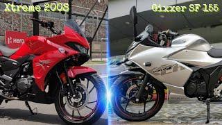 Gixxer SF 155 VS Hero Xtreme 200S | Hero Xtreme V/S Gixxer 150 SF | RICH INDIA MOTO