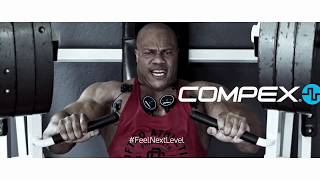 Compex Mini Wireless Muscle Stimulator Unboxing by Phil Heath and Brooke Wells