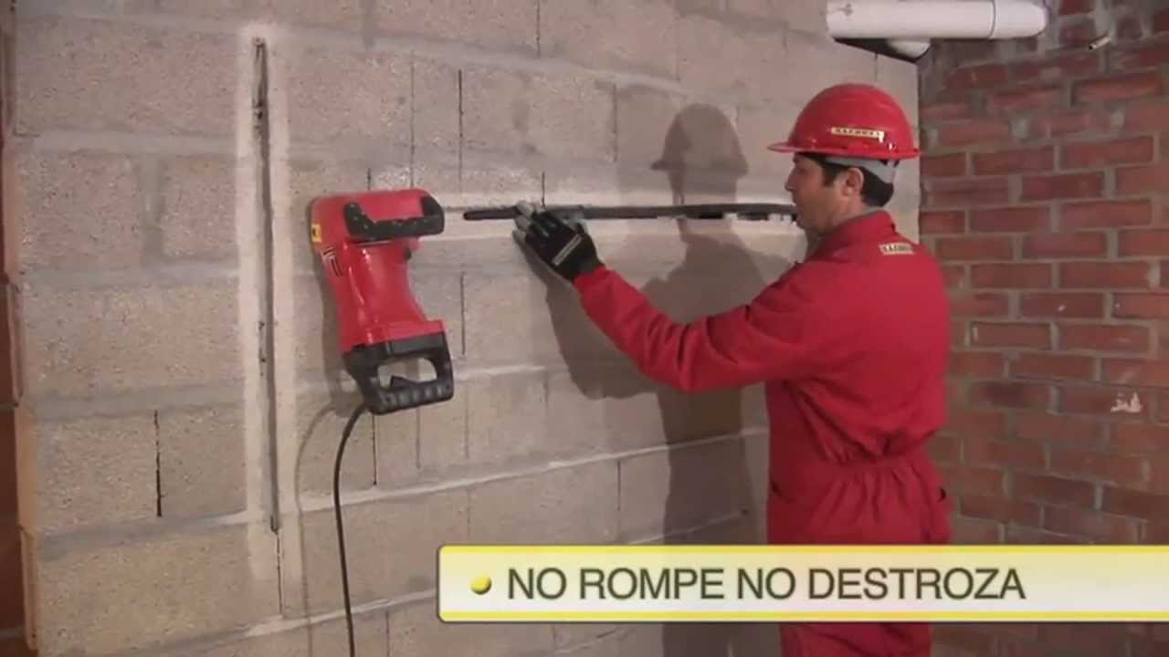 Macroza rozadoras de pared bagant youtube - Como solucionar humedades en paredes ...