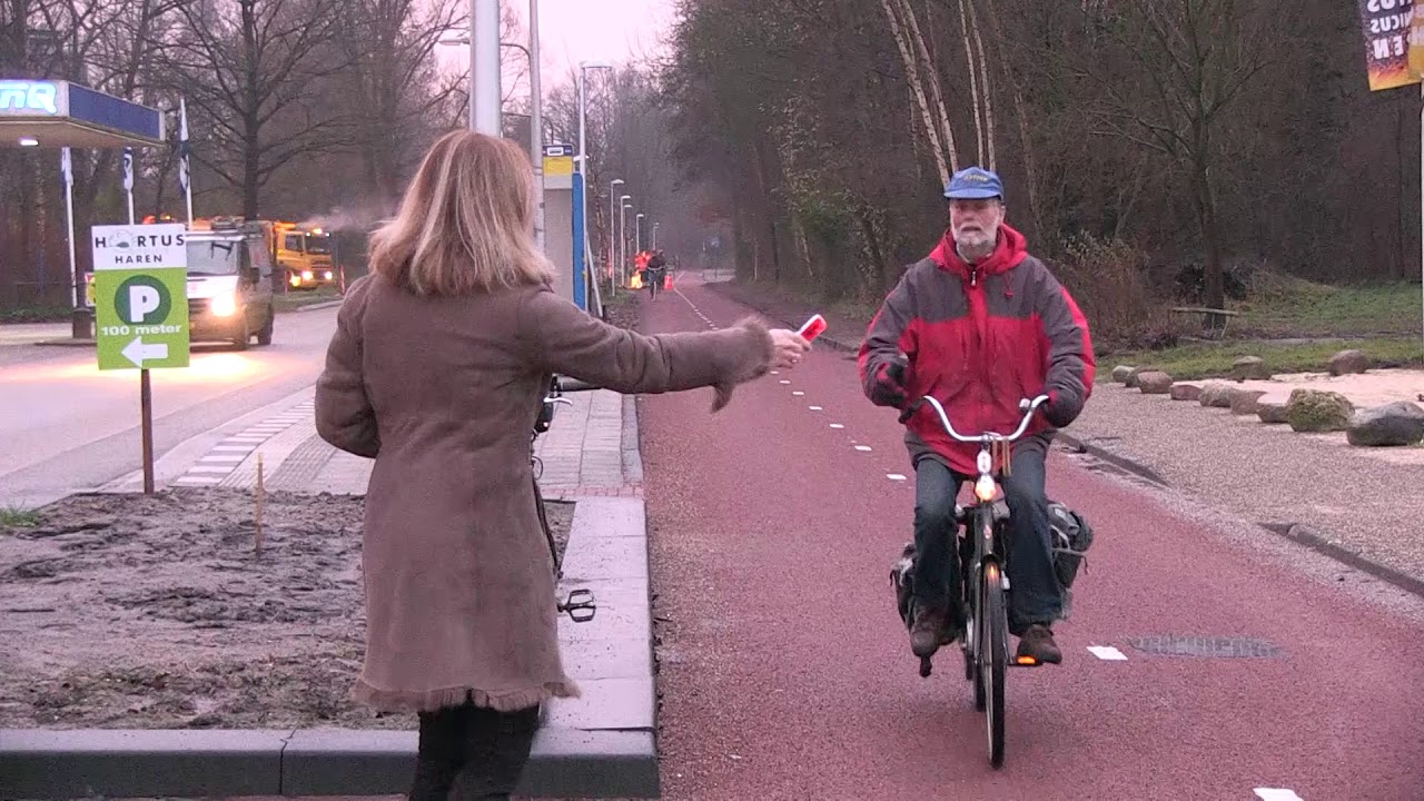 Snelle fietsverbinding in Haren officieel in gebruik genomen