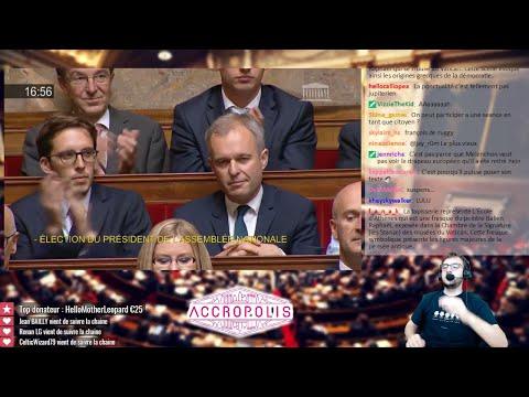 De Rugy jubile, Mélenchon soupire... #DirectAN [élection du président de l'AN le 27/06/17]