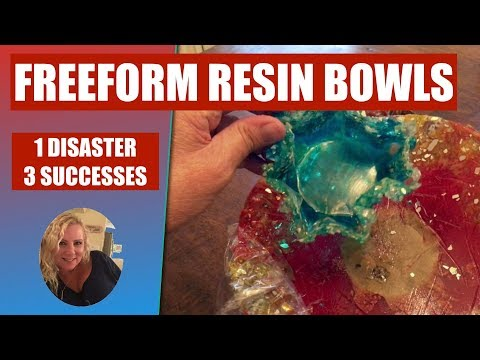 (54) Freeform Resin Bowls. 1 Disaster, 3 Sucesses