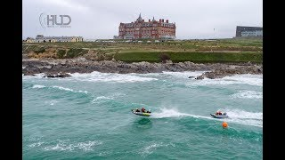 Thundercat Racing UK Surf race - Fistral 2018 - DJI P4P - GoPro - Drone - HD