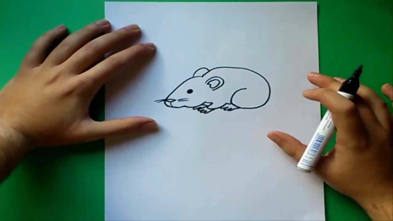 Como dibujar un raton paso a paso  How to draw a mouse  YouTube