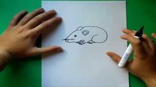 Como dibujar un raton paso a paso | How to draw a mouse