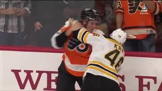 David Krejci fights Nolan Patrick 9/28/17