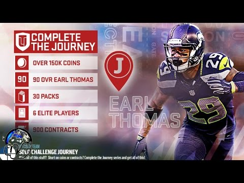 JOURNEY MASTER EARL THOMAS 90 OVR   MUT 17 JOURNEY SOLOS COMPLETE   MADDEN 17 ULTIMATE TEAM