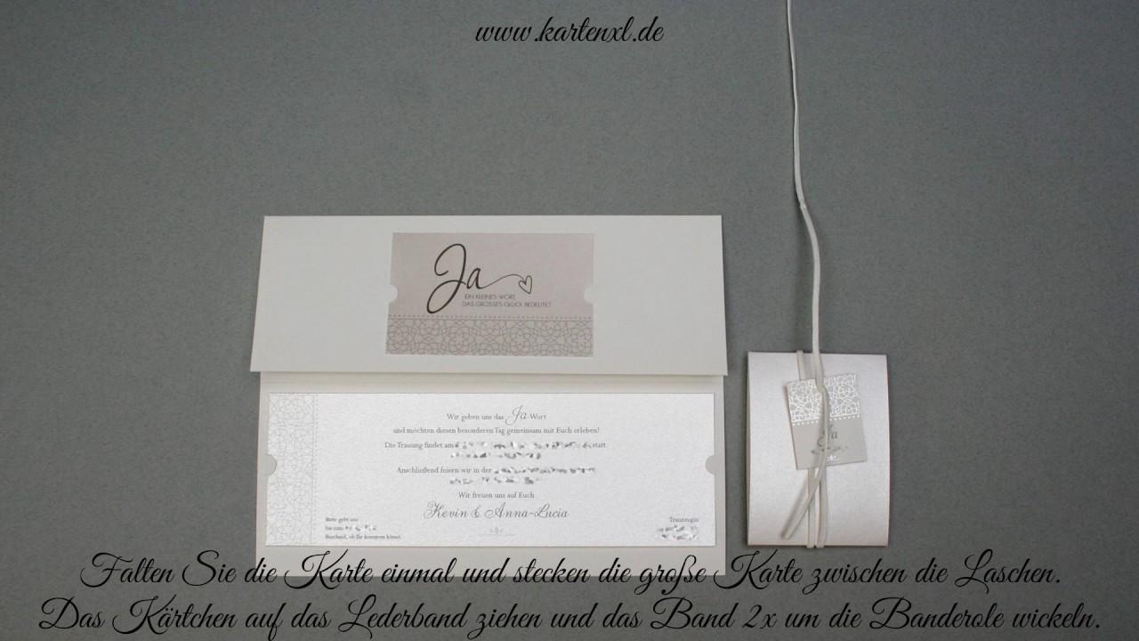 Hochzeits Einladungskarte Belarto 726043 Youtube