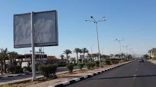 2 Египет  выход с отеля Egypt Hotel Queen Sharm Resort дорога к McDonald's