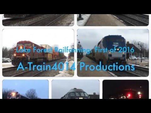 Lake Forest Railfanning: First of 2016
