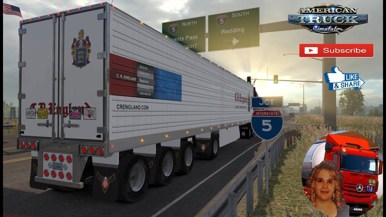 American Truck Simulator (1 35) Custom 53' trailer Ownable v1 6 1 35xx  Oregon DLC + DLC's & Mods