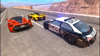 Police Cars vs Street Racer Beamng Drive Police Chases (BeamNG Drive Crashes)