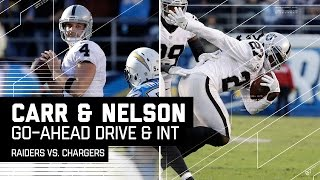 Carr Leads Raiders Down the Field for Go-Ahead FG & Nelson's INT Seals It! | NFL Week 15 Highlights