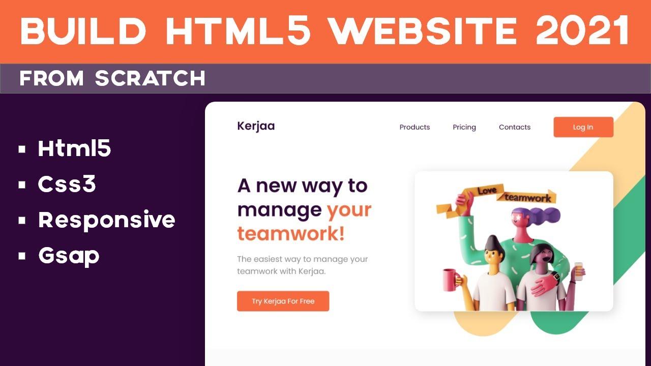 Build An Responsive HTML5 Website 2021