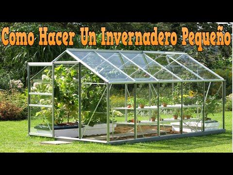 Como hacer un invernadero peque o como construir un for Como realizar un vivero