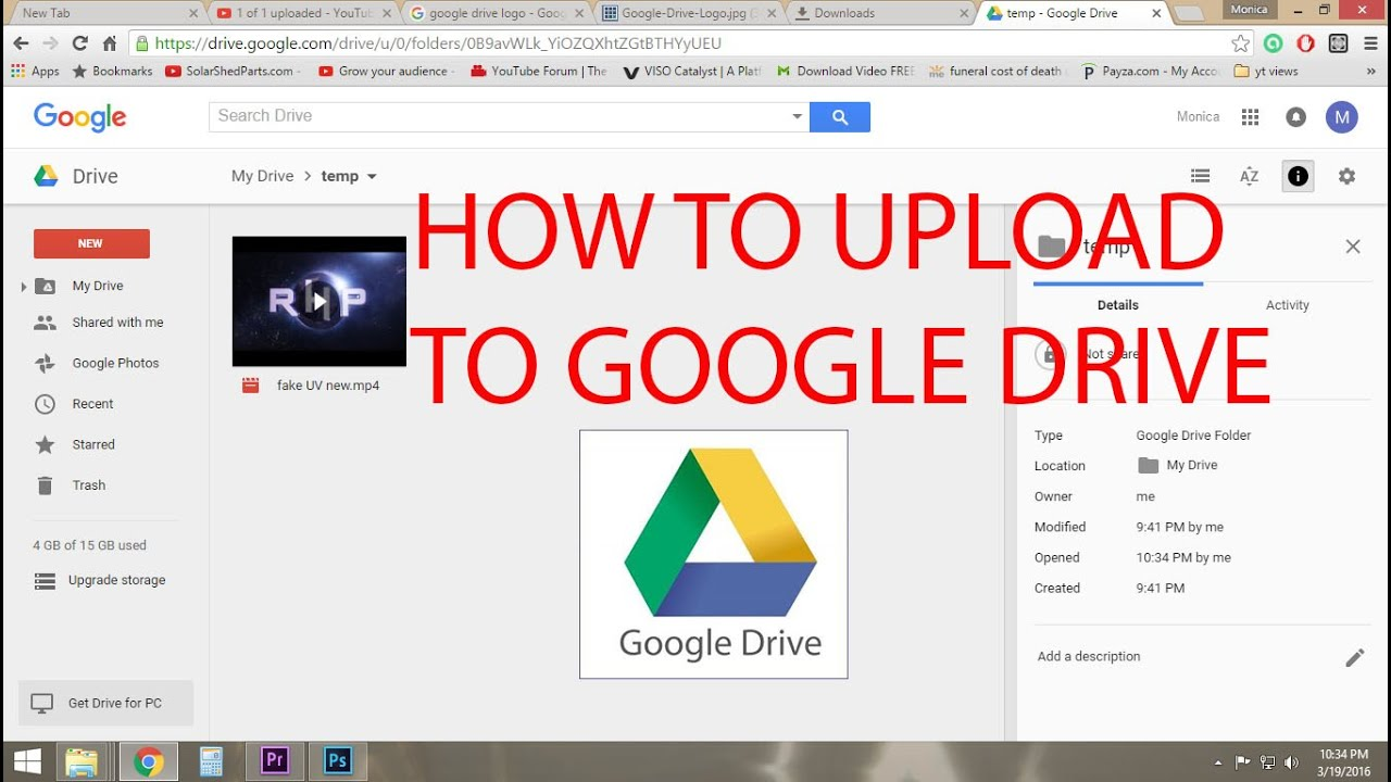How to upload video 66