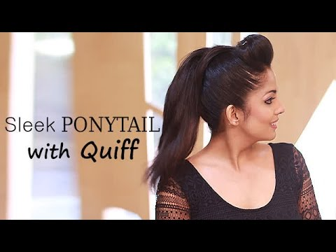 How To Sleek Ponytail With Quiff Youtube