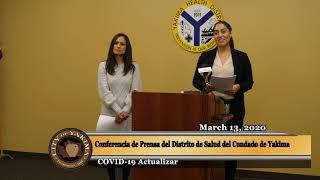 Conferencia de Prensa del Distrito de Salud de Yakima – COVID-19